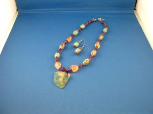 Chrysoprase, Amethyst & Citrine Necklace