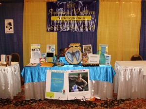 Amethyst Wyldfyre Booth at Spirit of Change Natural Living Expo 08