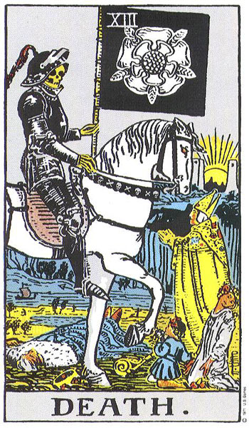 Death Card From Rider Waite Tarot Deck