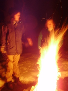 Fire Ceremony - Orb Photo
