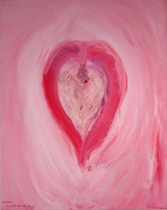 Magdalene vibrates to the ruby ray of feminine wisdom. Join her. Embedded with Elestial Rose Quartz, this Vibrational Power Painting equals 234,567.