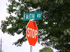 Can you Stop for a Moment? In Faith??