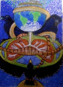 New Earth Midwife - Work in progress by Julieanne Reed