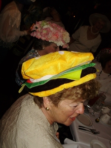 Hamburger Hat - Talk about Creative!