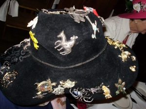 Plain Hat Decorated With Pins!