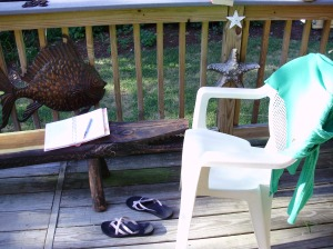 The Back Deck - Nice Journaling Spot!